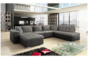 Canapé d'angle panoramique ALIA en U 6 à 7 places