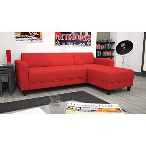 Canapé d'angle réversible 4 places – – Rouge