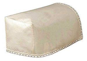 2housses d'accoudoirs étroits (Mini) et 1dossier de chaise, de couleur crème 100% coton britannique (52202/3).