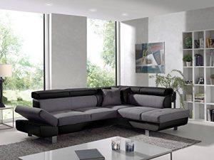 Bestmobilier – Lisbona – Canapé d'angle Droit Convertible – L 252 x P 190cm