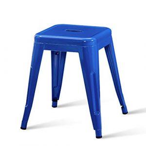 CRTDS Tabouret en Fer Mode créatif Tabouret Tabouret de Table Petit siège Multicolore en Option 45x39cm Chaise siège Vie Petit Banc Chaise bébé (Color : F)