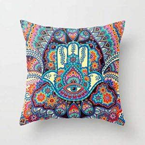 Enjoy Pillow Housse de Coussin décorative carrée pour canapé, canapé ou lit 45,7 x 45,7 cm – Design Moderne de qualité en Coton Doux 18 * 18 Housse de Coussin.