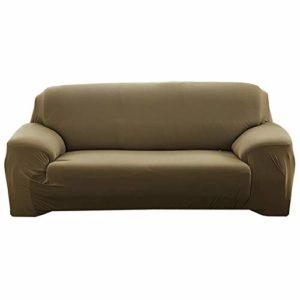 Housses De Canapé-ÉLastique Universel Housse Tout Inclus AntidéRapant Couleur Unie Couvre Couch Canapé DAngle 1/2/3/4 Places Housse De Canapé Pas Cher Pour Le Choix