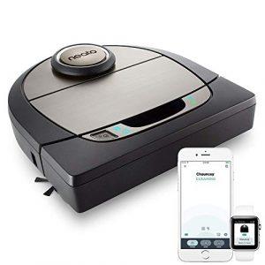 Neato Robotics D701 Connected – Compatible avec Alexa – Robot aspirateur avec station de charge, Wi-Fi & App