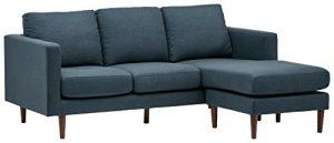 Rivet Revolve – Canapé d'angle moderne réversible à méridienne, largeur 203cm, Denim