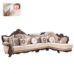 WSN Clic clac Convertible,Canapé d'angle Meubles Canapé d'angle Multifonctionnel Grand Canapé d'angle Canapé en Tissu Gauche Main Droite Mobilier De Salon