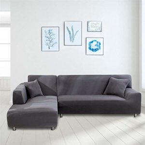earlyad Housse de canapé élastique en forme de L pour enfant 190 à 230 cm