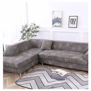 Housse de canapé élastique vide pour canapé d'angle de salon, l'ensemble du colis 1/2/3/4, (3 -seater + 4-seaterr)