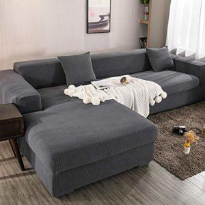 X-ZBS Housse de canapé Extensible en Forme de L Housse de canapé Universelle (Le canapé d'angle en Forme de L Doit en Acheter Deux)