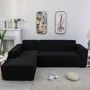 YJOY Housse de canapé Couvre pour canapé en Forme de L élastique Housse de canapé(Le canapé d'angle en L Doit en Acheter Deux)