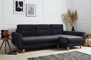 Bestmobilier – Britta – Canapé d'angle Convertible – avec Coffre – 4 Places – Droit