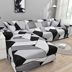 ZXCV Lot de 2 housses de canapé d'angle en forme de L