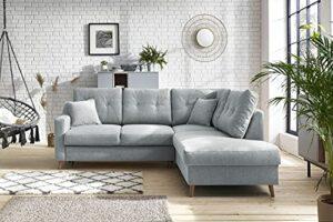 Bobochic – Sweden – canapé d'angle Convertible – 5 Places – Style scandinave – Droit