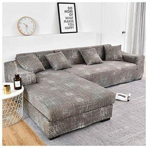 Housse De Canapé,d'angle Extensible Couverture de Canapé en Forme de L, pour canapé 1/2/3/4 Places(Canapé d'angle en L Doit en Acheter Deux)