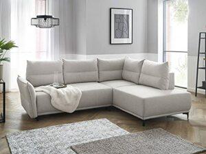 Lisa Design – Arya – canapé d'angle Convertible – avec Coffre – 5 Places – Style Contemporain – Droit
