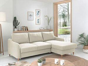 Lisa Design – Will – canapé d'angle – Convertible avec Coffre – 4 Places – Style scandinave – Droit