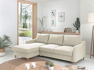 Lisa Design – Will – canapé d'angle – Convertible avec Coffre – 4 Places – Style scandinave – Gauche